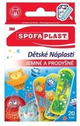 3M SPOFAPLAST č.116 Detské Náplasti jemné a priedušné, mix 1x20 ks