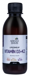 Adelle Davis - Lipozomálny vitamín D3+K2, 200ml