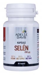 Adelle Davis - Selén, 200 mcg, 60 kapsúl