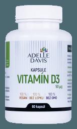 Adelle Davis - Vitamín D3, 60 kapsúl