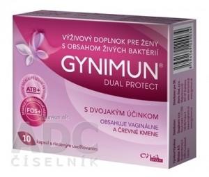 GYNIMUN DUAL PROTECT cps s riadeným uvoľňovaním 1x10 ks