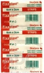 FIXAplast STRIPS náplasť 6x2 cm textilná s vankúšikom 1x5 ks