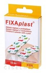 FIXAplast KIDS strip detská náplasť s vankúšikom 72x19 mm, 1x10 ks