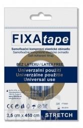 FIXAtape STRETCH samofixačné kompresné elastické ovínadlo, bez latexu 2,5cm x 450cm, 1x1 ks