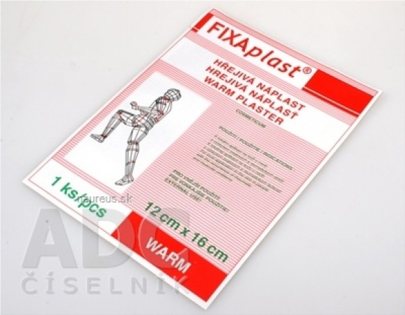 FIXAplast WARM hrejivá náplasť 12x16cm, 1x1 ks