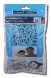 SOFTdent Dentálne špáradlá s niťou v uzatvárateľnom obale 1x50 ks