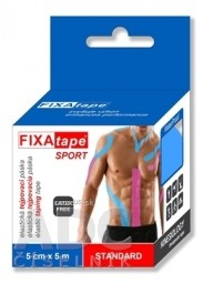FIXAtape SPORT STANDARD KINESIOLOGY elastická tejpovacia páska modrá, 5 cm x 5 m 1x1 ks