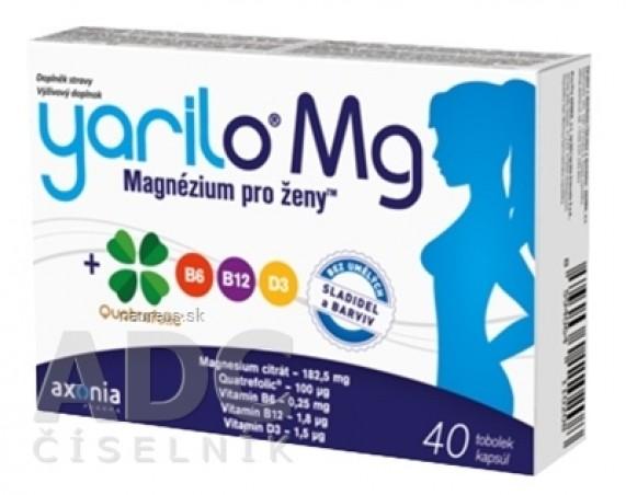 YARILO Mg cps (Magnésium pre ženy + vitamíny B6, B12, D3 a folát) 1x40 ks
