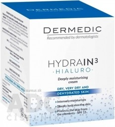 DERMEDIC HYDRAIN3 HIALURO KRÉM hĺbkovo hydratačný SPF15, 1x50 g