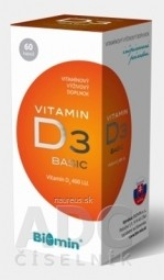 BIOMIN VITAMIN D3 BASIC 400 I.U. cps 1x60 ks
