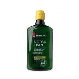 Rybí olej - NORSK TRAN – Prírodná citrónová príchuť 375 ml