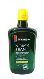 Rybí olej - NORSK TRAN – Prírodná citrónová príchuť 250 ml