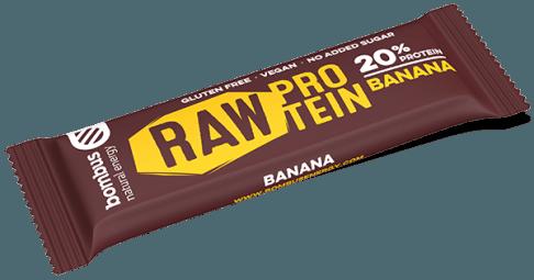 Tyčinka Bombus RAW PROTEIN banán 50g