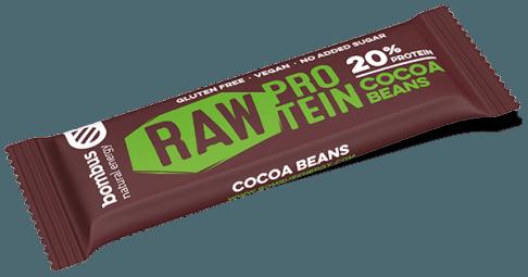 Tyčinka Bombus RAW PROTEIN kakaové bôby 50g
