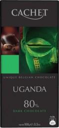 CACHET čokoláda horká UGANDA 80% 100g