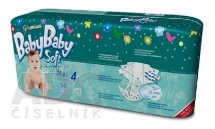BabyBaby Soft Premium Maxi 7-18kg detské plienky 1x50 ks