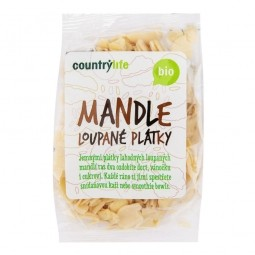 Mandle lúpané plátky 100 g BIO COUNTRY LIFE