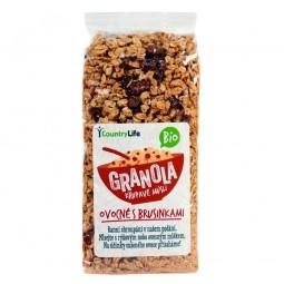 Akcia spotreba 04.09.2021 Granola - Chrumkavé müsli ovocné s brusnicami 350 g BIO