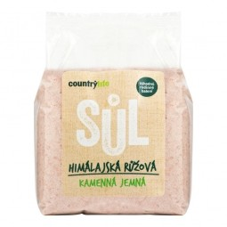 Soľ himalájska ružová jemná 1 kg COUNTRY LIFE