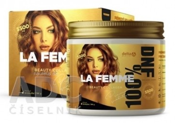 DELTA LA FEMME Beauty Collagen 5 500 mg rozpustný prášok na prípravu nápoja, príchuť broskyňa 1x196 g