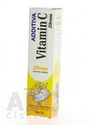 ADDITIVA VITAMÍN C 1000 mg Zitrone tbl eff 1x20 ks