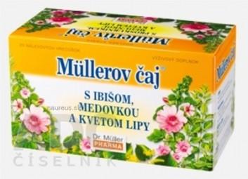 Müllerov čaj S IBIŠOM, MEDOVKOU A KVETOM LIPY bylinný čaj 20x1,5g (30 g)