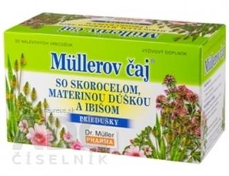 Müllerov čaj SO SKOROCELOM, MATER. DÚŠKOU A IBIŠOM bylinný čaj 20x1,5 g (30 g)