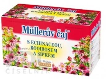Müllerov čaj S ECHINACEOU, ROOIBOSOM A ŠÍPKAMI bylinný čaj 20x1,5 g (30 g)