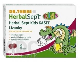 Dr.Theiss HerbalSept Kids KAŠEĽ Lízanky 1x6 ks