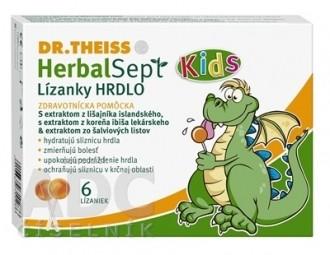 Dr.Theiss HerbalSept Kids HRDLO Lízanky 1x6 ks