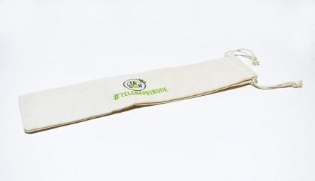 Bavlnené vrecko na slamku 28 cm