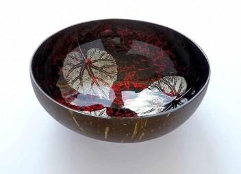 EatGreen Kokosová miska LIST červená 14 cm