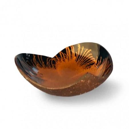 EatGreen Kokosová miska Srdce oranžové 13 cm