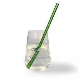 Zelená sklenená slamka 21 cm
