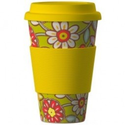 Eco Bamboo Cup - Daisies Yellow žltý