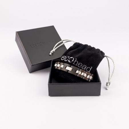 Náramok na ruku - Black Santal s krabičkou