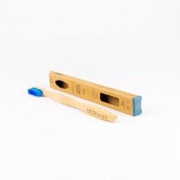 Bambusová zubná kefka Soft blue