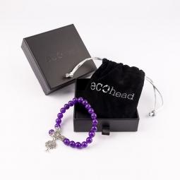 Náramok - Purple Tree s krabičkou