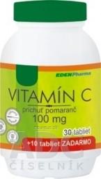 EDENPharma VITAMÍN C 100 mg príchuť pomaranč