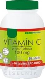 EDENPharma VITAMÍN C 100 mg príchuť jahoda