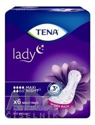 TENA LADY MAXI NIGHT absorpčné vložky 1x6 ks