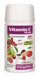 PargaVit VITAMÍN C Mix Plus Pre deti tbl (melón, malina, ovocie, višňa)(60+30 zadarmo) 1x90 ks