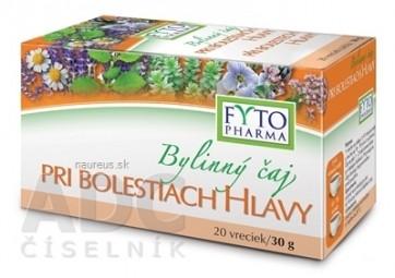FYTO Bylinný čaj PRI BOLESTIACH HLAVY 20x1,5 g (30 g)
