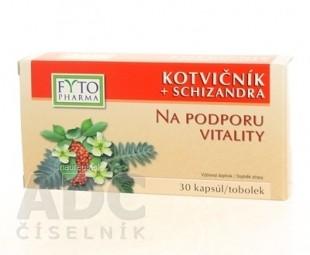 FYTO KOTVIČNÍK + SCHIZANDRA cps (na podporu vitality) 1x30 ks