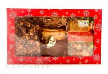 FYTO Darčeková kazeta Vianoce Vianočný čaj: sypaný 100 g + porciovaný 20x2 g (40 g) + med 250 g, 1x1 set