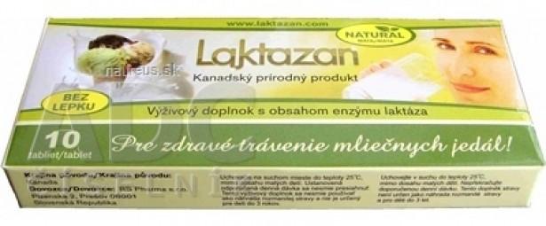 LAKTAZAN tablety tbl enzým laktáza s príchuťou mäty 1x10 ks