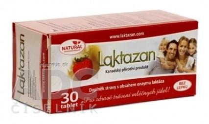 LAKTAZAN tablety tbl enzým laktáza s príchuťou jahody 1x30 ks