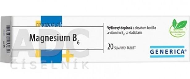 GENERICA Magnesium B6 tbl eff 1x20 ks