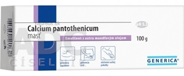 GENERICA Calcium pantothenicum masť Emollient s extra mandľovým olejom 1x100 g