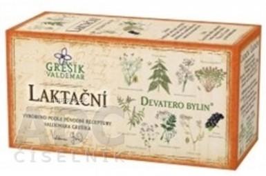 GREŠÍK LAKTAČNÝ ČAJ bylinný čaj porciovaný v nálevových vreckách 20x1,5 g (30 g)